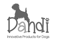 Image shows the black and white logo for Dandi Products