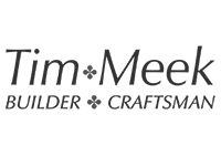Image shows the black and white logo for Tim Meek: Builder and Craftsman