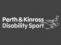 Image shows the Black and White logo for Perth and Kinross Disability Sport